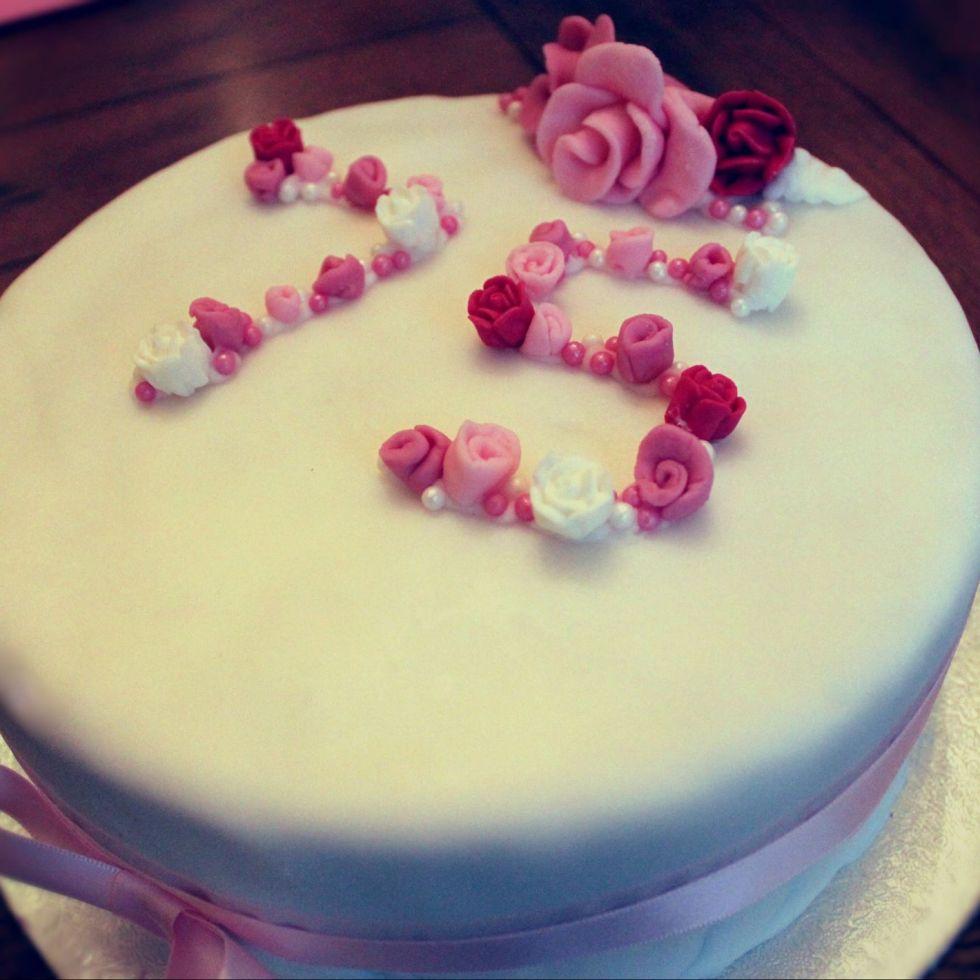 rose celebration cake mother's day cake birthday cake