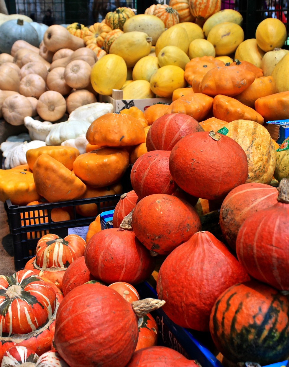 Pumpkins autumn halloween borough market London fall