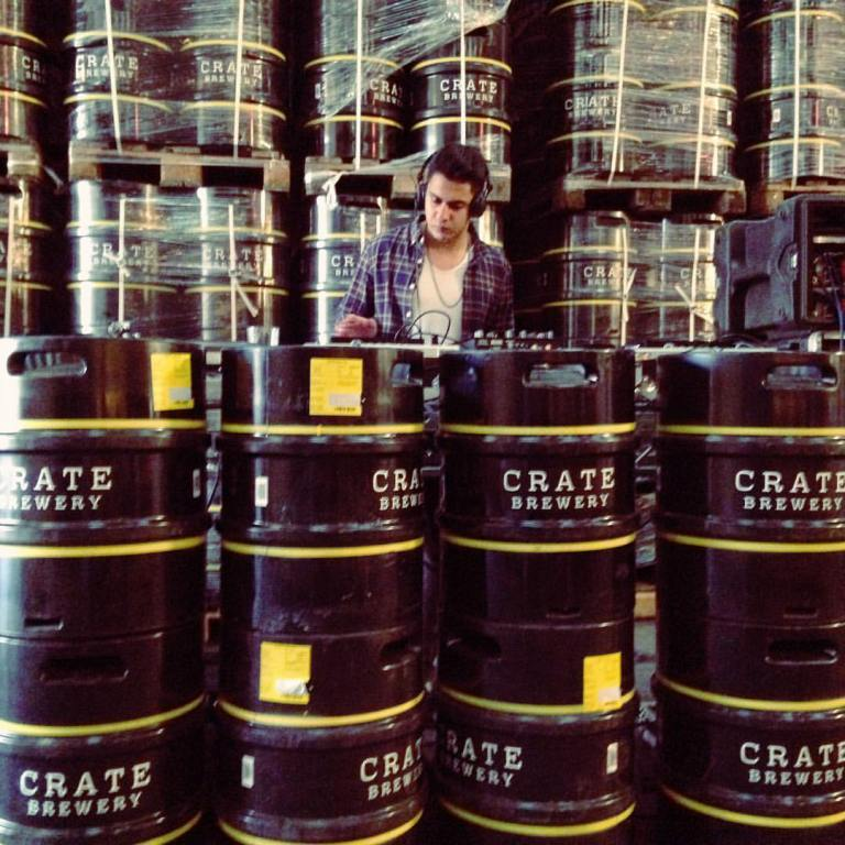 Crate Brewery Mick's Garage DJ Decks