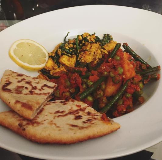 Bombay potatoes and saag paneer recipe