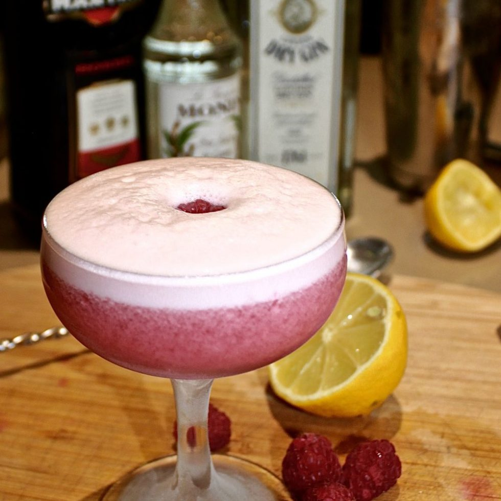 The Clover Club gin raspberry cocktail