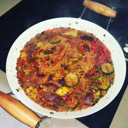 Vegetarian Paella recipe Mediterranean vegetable paella spanish food The Jam Jar vegan