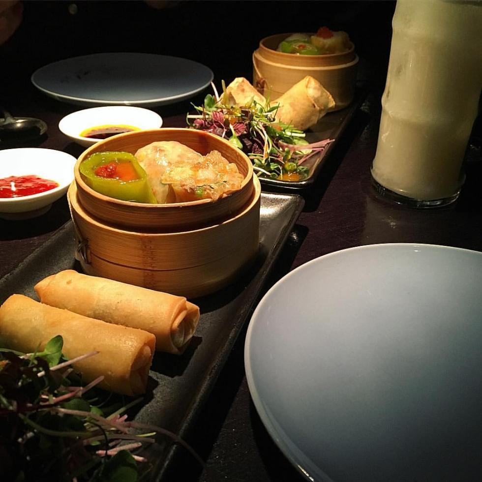 Hakkasan Hanway Place London Review dim sum platter set menu vegetarian