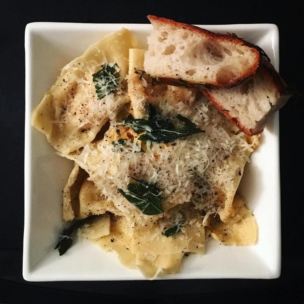 sweet potato and goat's cheese vegetarian ravioli recipe Italian fresh pasta food blog The Jam Jar