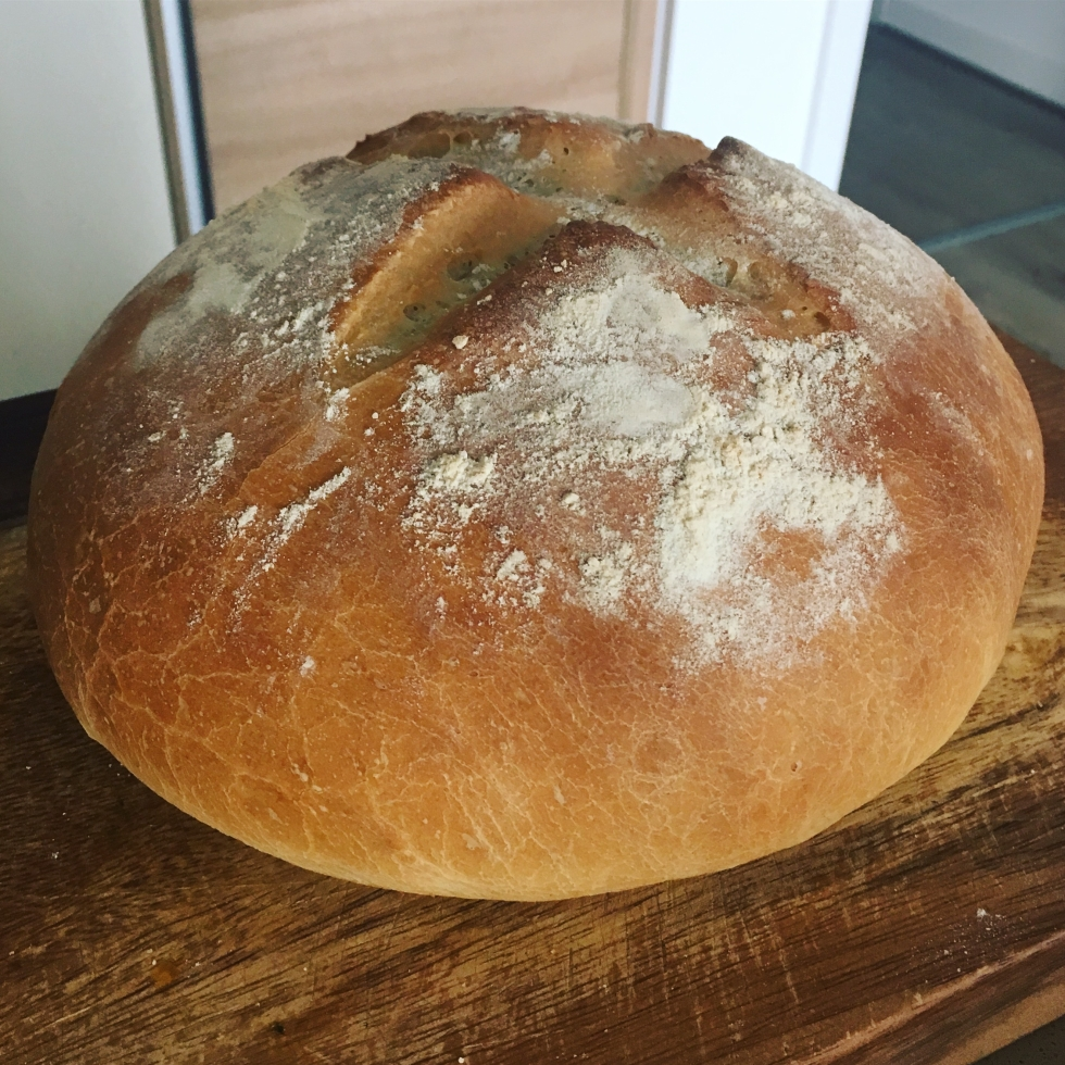 Simple homemade white loaf of bread recipe vegan vegetarian The Jam Jar