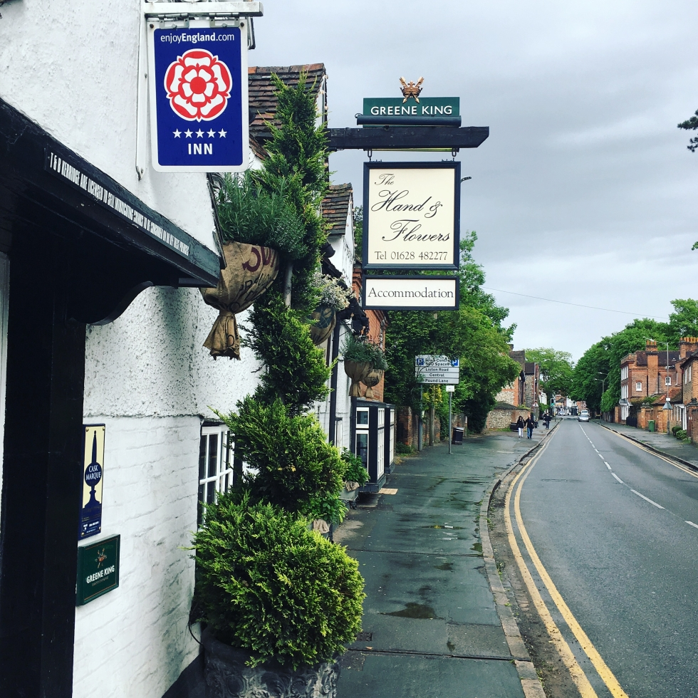 The Hand and Flowers Marlow Tom Kerridge Pub The Jam Jar food blog vegetarian review