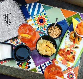 Food and drinks at Daiquiri Taormina Sicily review aperol spritz The Jam Jar food blog