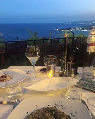 The view from Ristorante Pizzeria Taormina Sicily review The Jam Jar food blog