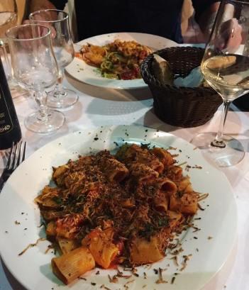 (Rigatoni alla Norma) Trattoria Tiramisu - Taormina, Sicily vegetarian pasta Italian restaurant review The Jam Jar food blog