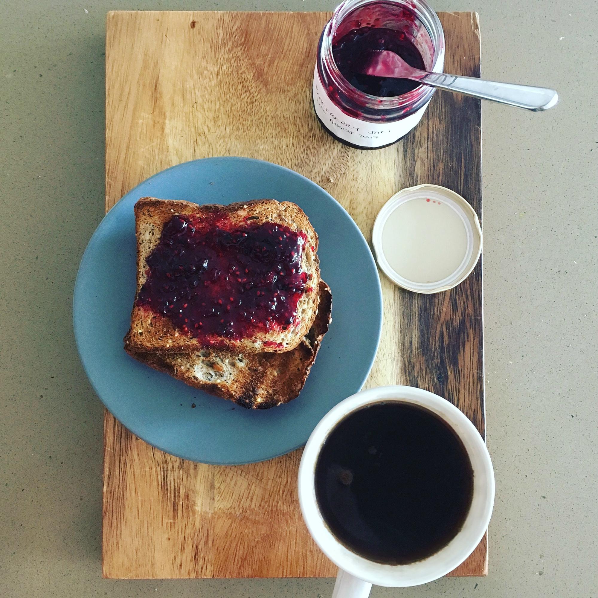 blackberry jam recipe jam on toast food food blog The Jam Jar coffee