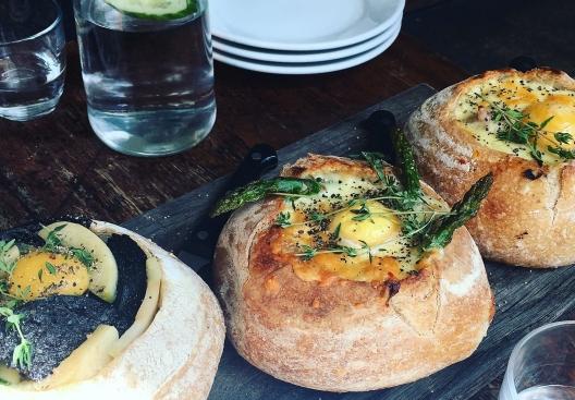 The Barge House Breakfast in Bread London Brunch Review Veggie Vegetarian Where To Brunch in London The Jam Jar Food Blog